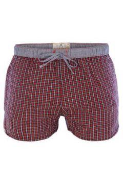 Luca David Pyjama-Shorts \'Olden Glory\' enzian / taubenblau / rot / weiß(108152823)