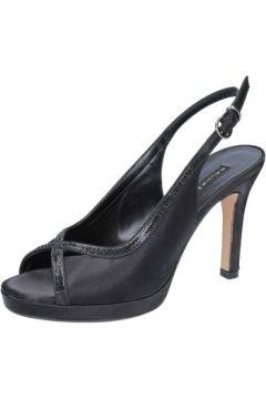 Sandales Bacta De Toi sandales noir satin BY91(88522597)
