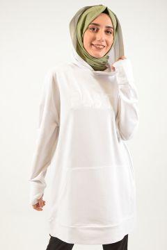 Sweat-shirt PLİSTRE Blanc(119072912)