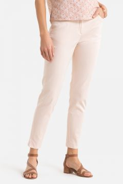Pantalón tobillero de algodón stretch(108523028)