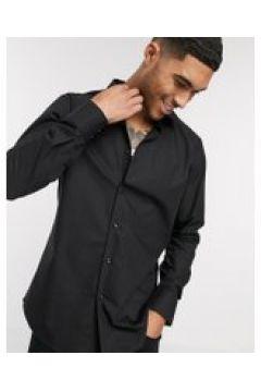 HUGO - Venzo - Camicia a maniche lunghe vestibilità classica-Nero(112453889)