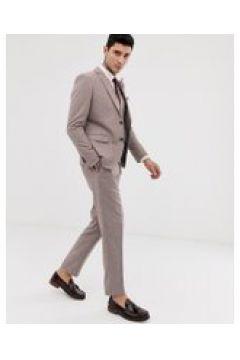 Harry Brown - Wedding - Sommerliche Tweed-Anzugshose aus einer Wollmischung in schlanker Passform - Rosa(95023406)