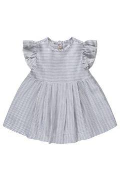 Gestreiftes Kleid mit Rüschen(113867277)