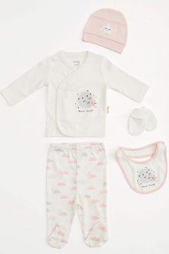 DeFacto Kız Bebek Organik Yeni doğan 5\'li Hastane Çıkış Takımı(125928534)