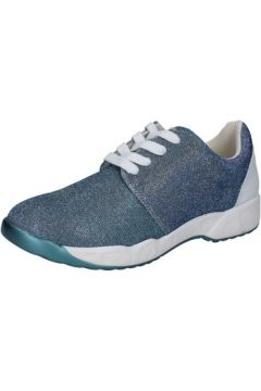 Chaussures Francescomilano sneakers celeste textile BZ966(115399276)