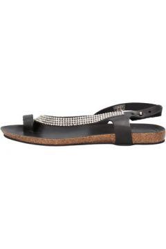 Sandales Docksteps sandales noir cuir strass AG856(115393550)