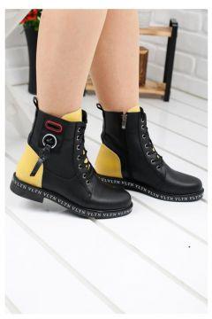 Ayakland Despina 410 Siyah Günlük Termo Taban Bayan Bot Ayakkabı(110929981)