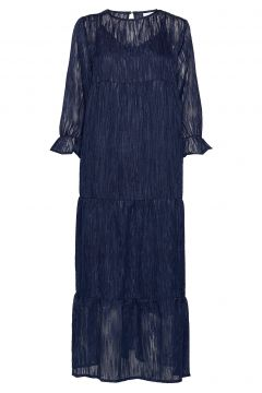 Dress Long Sleeved W. Volume At Sle Maxikleid Partykleid Blau COSTER COPENHAGEN(114163461)