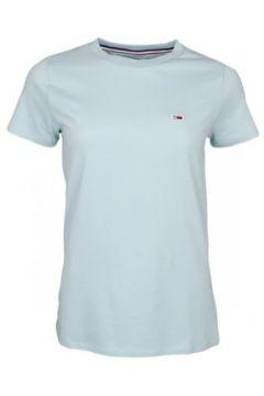 T-shirt Tommy Jeans T-shirt col rond vert d\'eau pour femme(115518553)