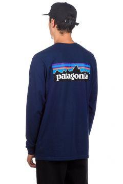Patagonia P-6 Logo Responsibili Longsleeve T-Shirt blauw(96257874)