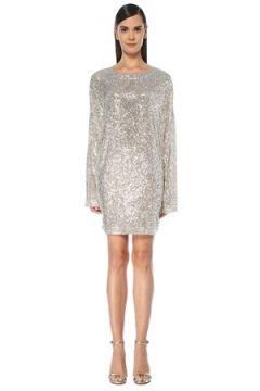 In the Mood for Love Kadın Alexandra Silver Payetli Mini Abiye Elbise Gri L EU(119136830)