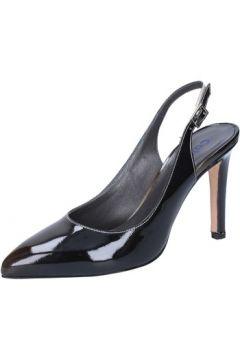 Sandales Calpierre escarpins noir cuir verni BZ735(115398975)