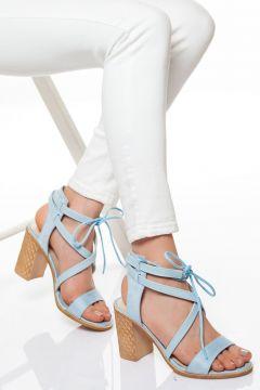 derithy -klasik Topuklu Ayakkabı-mavi Süet(120829402)