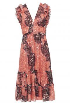 Kleid Akira aus Seide und Lurex(122365273)