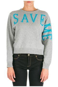 Women's jumper sweater crew neck round save me(118299980)