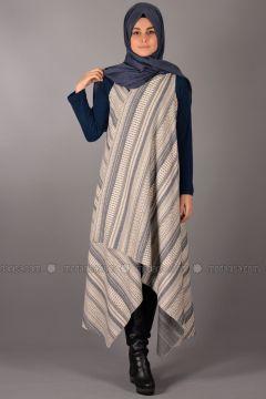 Blue - Stripe - Cardigan - Henna Elısa(110336552)