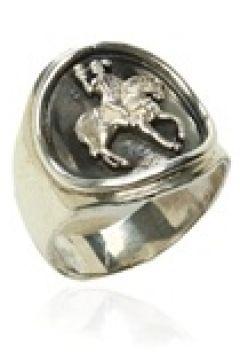 Mo For Every Moment Erkek Silver Figür Detaylı Gümüş Rengi Yüzük Gri EU(125183616)