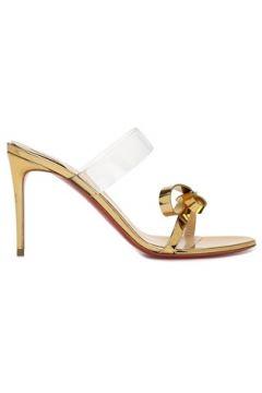 Christian Louboutin Kadın Just Nodo Gold Fiyonklu Terlik Altın Rengi 36.5 EU(116745326)