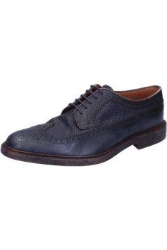 Chaussures Henderson sneakers bleu cuir AB690(101563632)