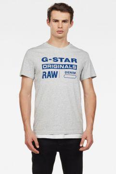 G-Star RAW Men Graphic 8 T-Shirt Grey(117926917)