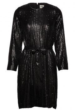 Britta Sequin Dress Kleid Knielang Schwarz TWIST & TANGO(114164276)