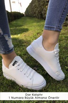 Haydigiy Kalın Taban Spor Ayakkabı Beyaz - 4444.264.(124700583)