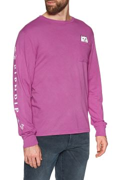 Rip N Dip Lord Nermal Langarm-T-Shirt - Fuchsia(108484997)
