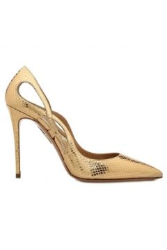 Aquazzura Kadın Forever Gold Dokulu Deri Stiletto Altın Rengi 37.5 EU(108873838)