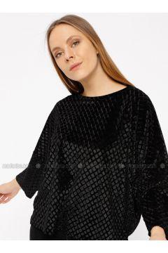 Black - T-Shirt - Koton(110323974)