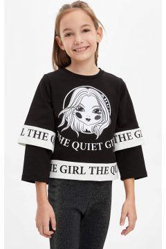 DeFacto Kız Çocuk Baskılı Sweatshirt(125922755)