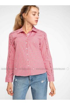 Red - Blouses - DeFacto(110325360)