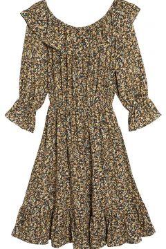 Vestido corto de manga larga y estampado de flores(116152947)