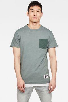 G-Star RAW Men Contrast Pocket T-Shirt Green(117927445)
