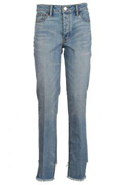 Damen gerade strechthose jeans(118073741)