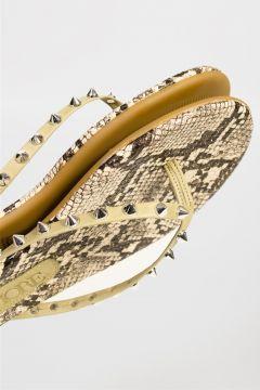 Shoes & More Kadın Yılan Desenli Multi Slops Terlik(124639227)