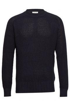 Kevin Sweater Strickpullover Rundhals Blau WOOD WOOD(116919988)