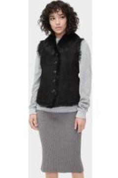 UGG Renee Toscana Shearling Gilet pour Femmes en Black, taille Petite(112238208)