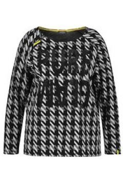 Shirt mit Hahnentritt Samoon Black gemustert(125293030)