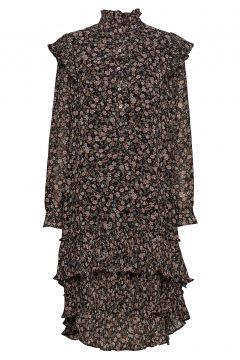 Frille Dress Kleid Knielang Braun LOLLYS LAUNDRY(114163594)