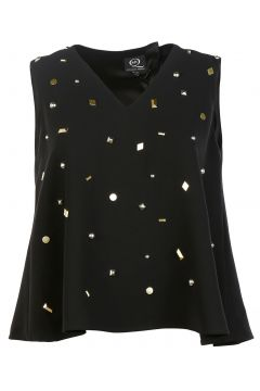 Women's top sleeveless studded(118298349)