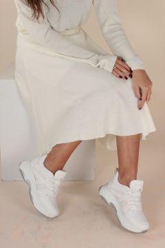 İnan Ayakkabı Beyaz File Kadın Yürüyüş Ayakkabısı(109031162)