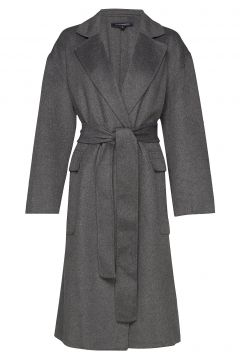 Agatima Wool Belted Coat Wollmantel Mantel Grau FRENCH CONNECTION(114155009)