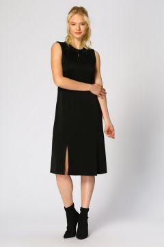 Beymen Club Yırtmaç Detaylı Siyah Elbise(113967131)