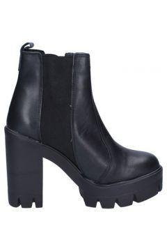 Bottines Daniela Dolci bottines noir cuir textile BX750(115442636)