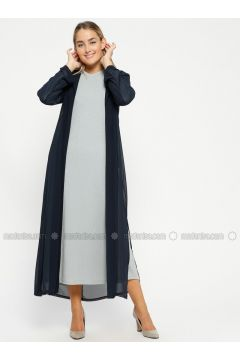Blue - Unlined - Crew neck - Evening Suit - MARKESRA(110314789)