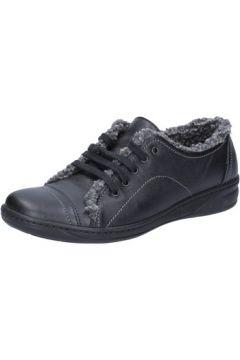 Chaussures Susimoda sneakers noir cuir fourrure BX553(115442579)