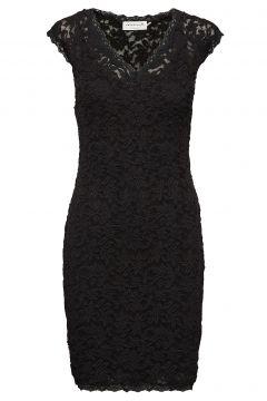 Dress Ss Kleid Knielang Schwarz ROSEMUNDE(114165063)