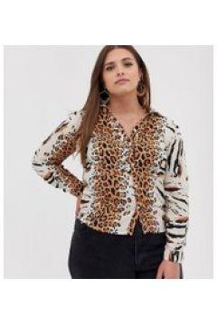 AX Paris - Hemd mit Leopardenmuster - Mehrfarbig(88950396)