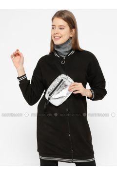 Black - Unlined - Crew neck - Jacket - İkoll(110319946)