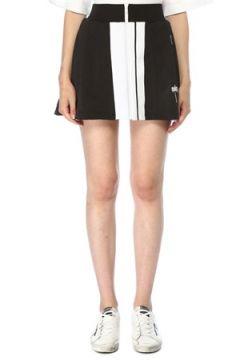 Palm Angels Kadın Siyah Beyaz Bloklu Fermuarlı Mini Etek M EU(117384942)